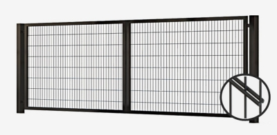 swing gate, swing gates, swing gate panel 2d, swing gate with panel 2d