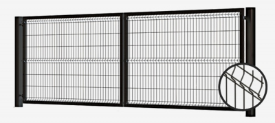 swing gate, swing gates, swing gate panel 3d, swing gate with panel 3d